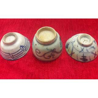 Antique China Republic period (minguo) cups