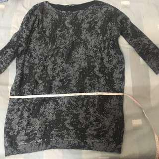 Grey sweater dress (large or loose for smaller frames)