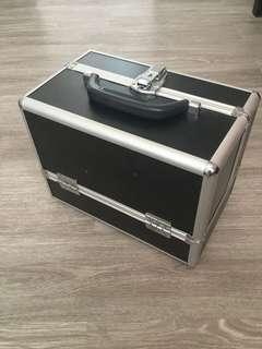Steel Case Black Handcarry Make up Kit
