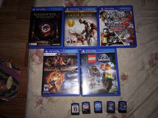 PS vita games for sale!!
