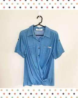 Cross draped shirt