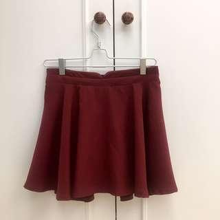 🚚 Catworld酒紅色裙子褲裙