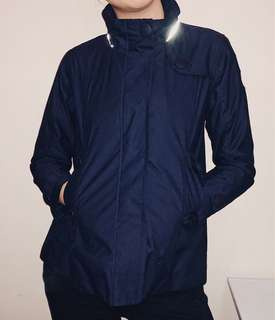 <AIGLE> Navy Hooded Jacket