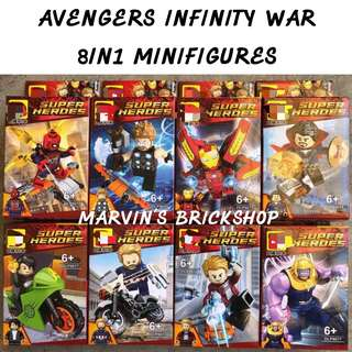 Latest AVENGERS Infinity War 8in1 Minifigures