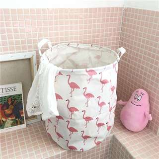 Flamingo Laundry Storage Bag