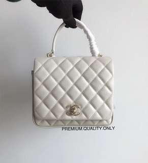 Chanel Citizen Chic Flap Bag- white 18cm