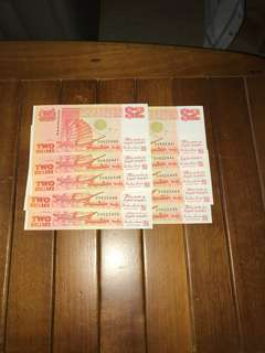 $2 Orange 10x running