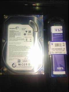 Hard Disk & DDR3 RAM For Sale CHEAP