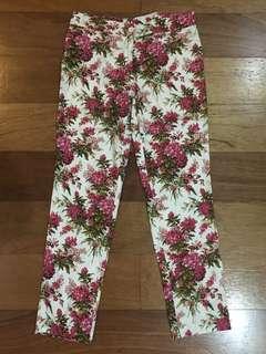 Floral Slim Fit Pants