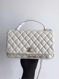SS18 Chanel Chic Citizen Flap Bag - white 27cm
