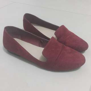 F21 Red Loafers