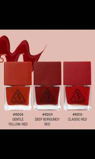 3ce Red Recipe Long Lasting Nail colour