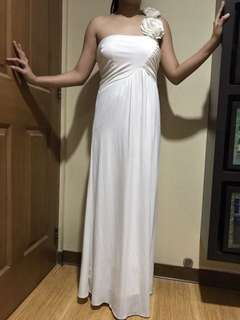 Get Laud White Long Gown