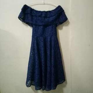 Off Shoulder Lace Formal Dress