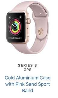 Apple Watch Series 3 - 38mm Gold (GPS + Cellular)
