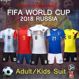 [Popular] World Cup 2018 Russia Kit Jersey Set