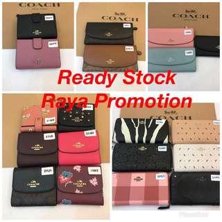 Original coach ready Stock women wallet purse pouch coin bag handbag