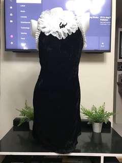 D&G Black Dress in Velvet Fabric