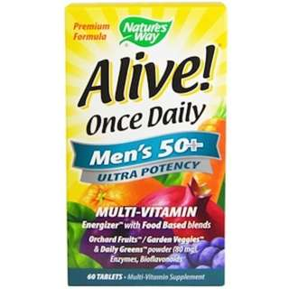 Nature's Way, Alive! Once Daily, Men's 50+, Multi-Vitamin, 60 Tablets
