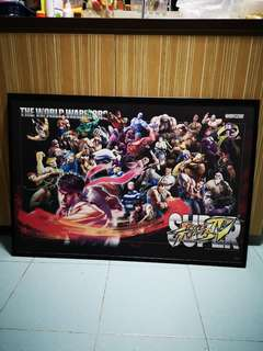 Poster with frame (Street fighter)