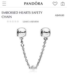 BRAND NEW PANDORA SAFETY CHAIN