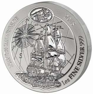 2018盧旺達皇家海軍航母卓越號銀幣1oz