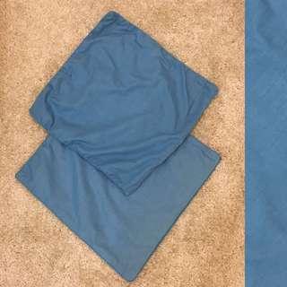 Cushion blue cover 2 set size 40cm x 40cm