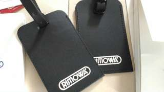 Rimowa leather luggage tags and sticker