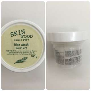 Skin Food Rice Mask Wash Off 100 gram