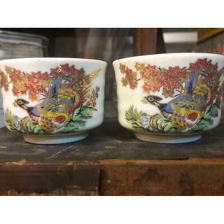 Vintage hand painted cups