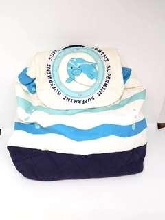 🚚 ❤️的世界 可愛海軍風海豚🐬背包