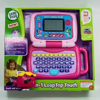~Ready Stocked~ LeapFrog 2-in-1 LeapTop Touch Pink laptop tablet