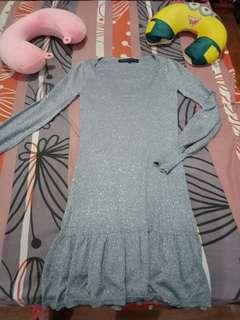 Gray dress longsleeve