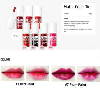 🚚 Skin Food Water Color Lip Tint [Red Paint and Plum Paint]