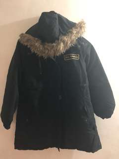 Autumn feather black jacket