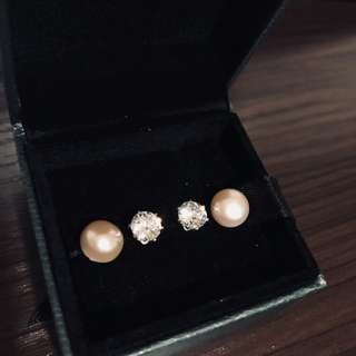 Assorted pearl+cubic set #miami #forwifey SALE