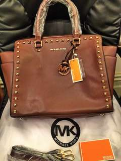 MK bag Selma studded satchel