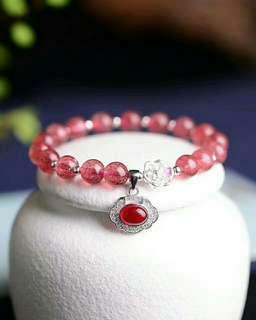 草莓晶手鏈