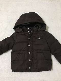 Brown Bubble Jacket for Boys