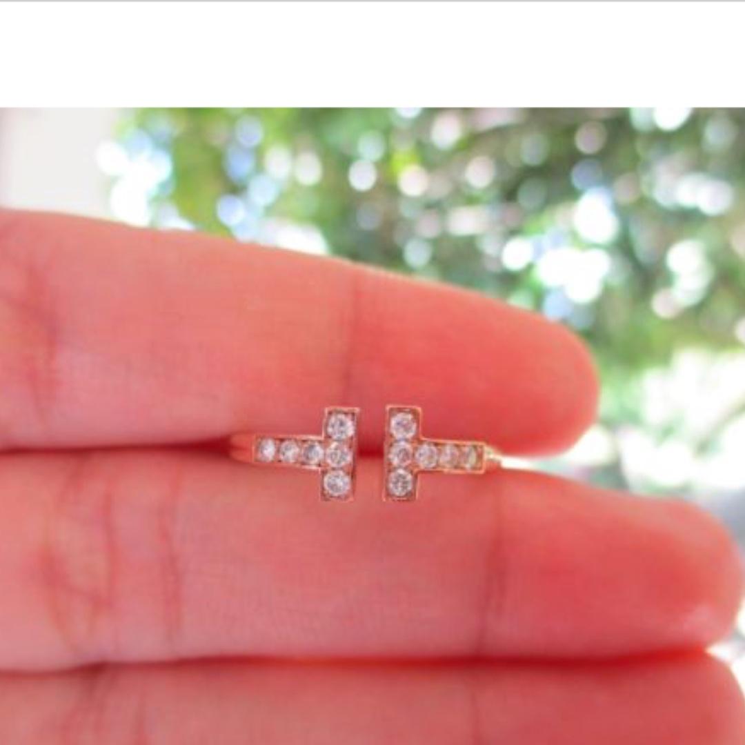 36 Carat Diamond Rose Gold Tiffany Ring 18k, Preloved Women\'s ...