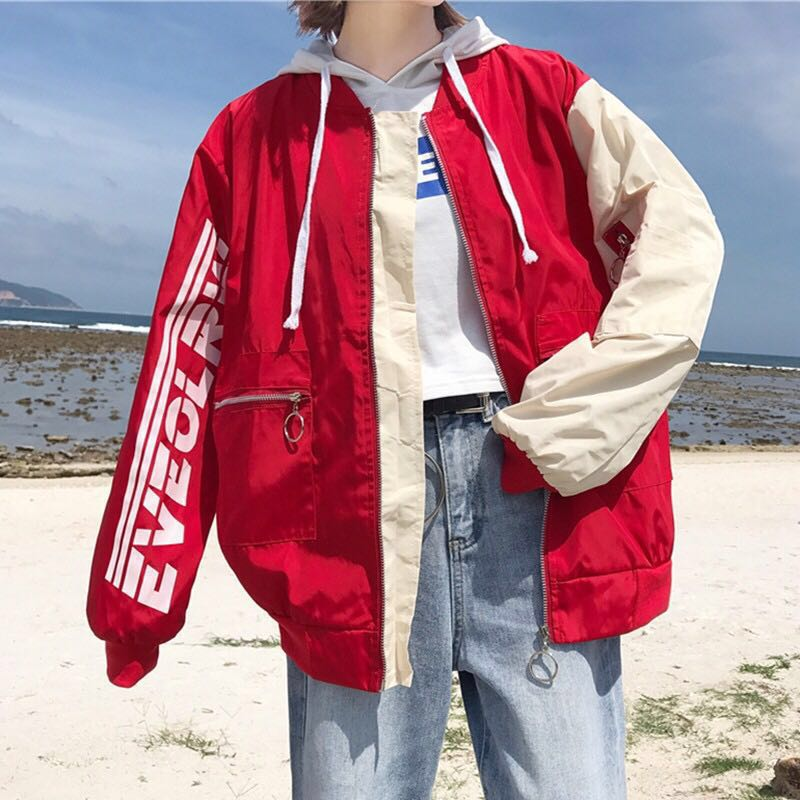 2987207c682c 🍑: ulzzang bomber jacket, Women's Fashion, Clothes, Outerwear on ...