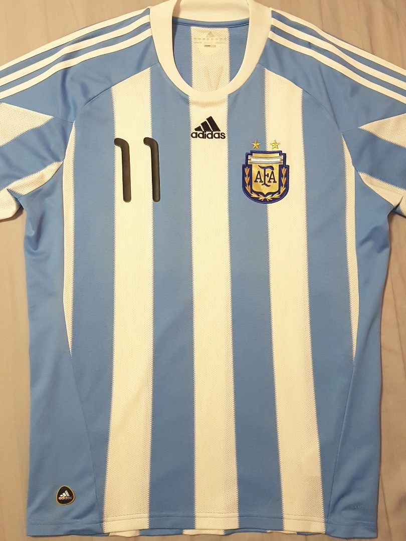 85ac7d4dfb3 Argentina Carlos Tevez World Cup 2010 Adidas Home Jersey