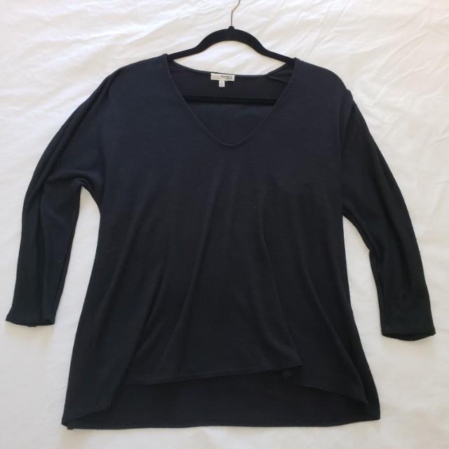 Aritzia Wilfred Free Aneta T-shirt small s black