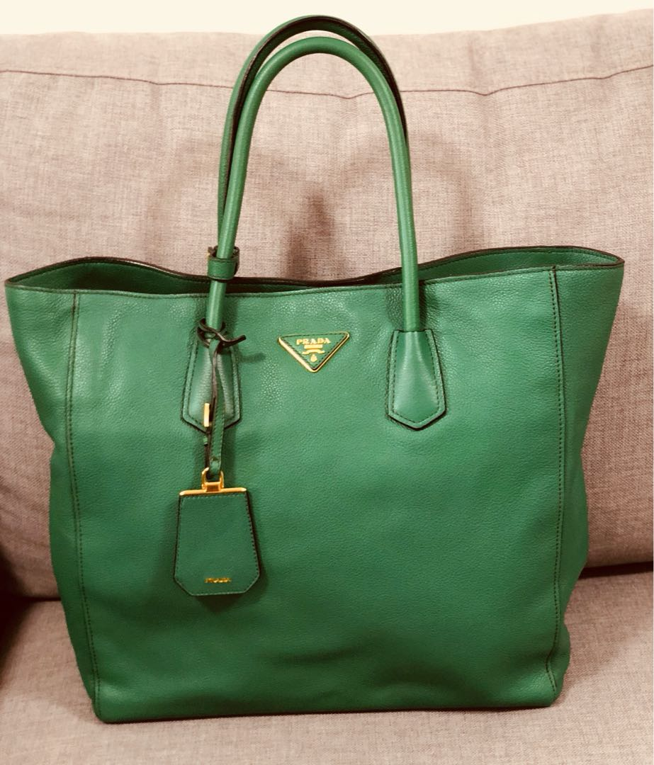 d0c2ac75dd ... new arrivals authentic prada tote bag in forest green luxury bags  wallets handbags on carousell bf819