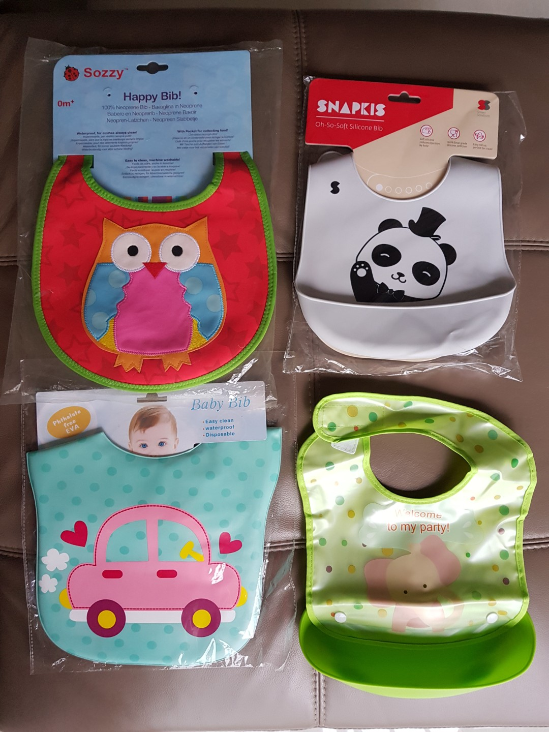 Baby Bibs w  assorted brands   materials (Neoprene   Silicone ... 2828e921c4e3