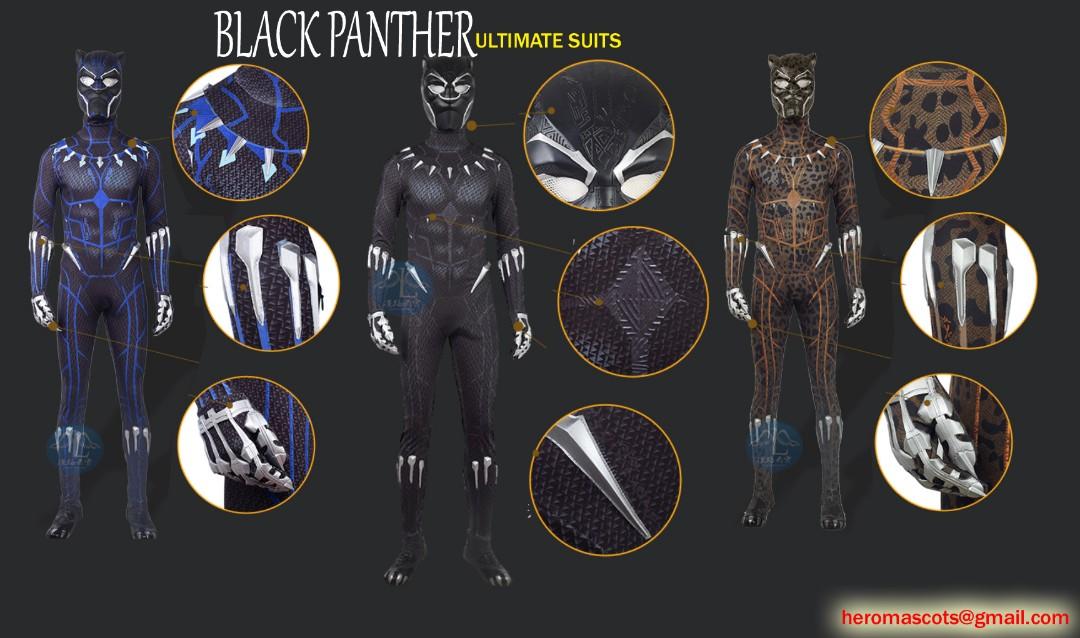 Black Panther Golden Jaguar Kill Monger Costume Marvel Avengers
