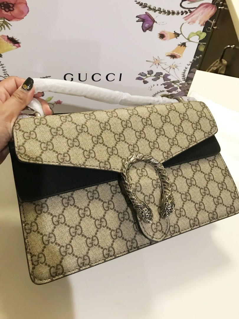 7a40ad0693ac43 BN Gucci Dionysus small GG shoulder bag, Luxury, Bags & Wallets ...