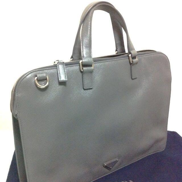 cbbced36fea8 Brand New Prada Cartella Saffiano Laptop Bag