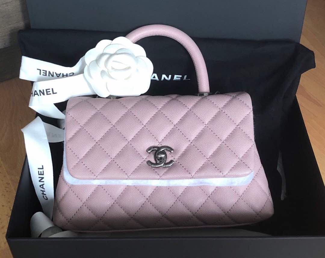ce6dacc4d40203 Chanel Coco Handle Mini Sakura Pink! Limited Edition! Rare! Hard to Get!!,  Luxury, Bags & Wallets, Handbags on Carousell