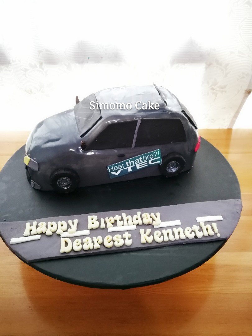 Customized Car Cake 3d Cake Honda Eg6 Free Delivery Food Drinks